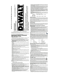 DeWALT dc500 User Manual