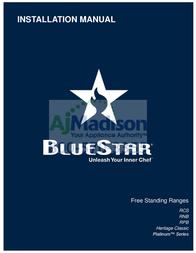 BlueStar RNB366BV2 Installation Instruction