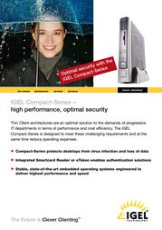 IGEL IGEL-3200 CE Compact 62-3200B-128/CE User Manual