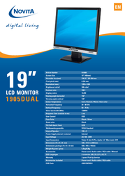 "Novita 1905 Dual 19"" TFT Display N10001 Leaflet"
