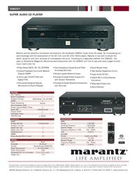 Marantz SA8001 Leaflet