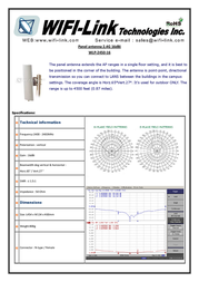 WiFi-Link 2.4GHz Panel 16 dBi Antenna WLP-2450-16-1 Leaflet