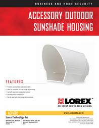 Lorex Sunshade Housing ACC1600 Leaflet