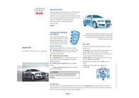 Audi s3 Quick Reference Card