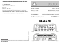 Audison LR 605 XR User Manual
