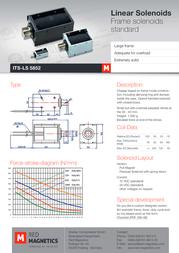 Intertec ITS-LS-5852-Z-12VDC, electromagnet, M3 ITS-LS-5852-Z-12VDC Data Sheet