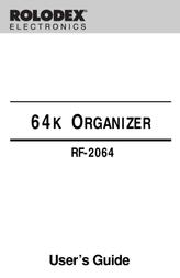 Rolodex RF-2064 User Manual