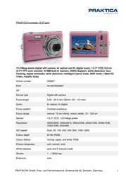 Praktica Luxmedia 12-Z4 256827 Leaflet