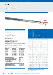 Voka Kabelwerk 101916-00, Control Data Cable, , Sheath 101916-00 Data Sheet