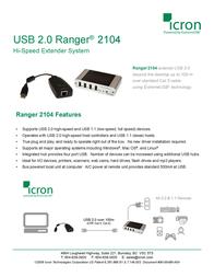Icron USB Ranger 2104 00-00235 Leaflet