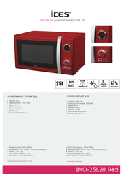Ices Electronics IMO-25L20 IMO-25L20 RED 전단