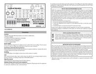 Korg Volca Beats VOLCABEATS Data Sheet