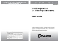 Dino LED-daytime running light and parking light 20 LEDs. 610790 Scheda Tecnica