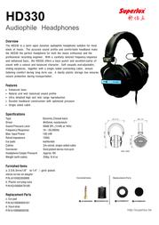 Superlux HD330NA Leaflet