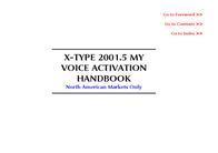 Jaguar VOICE ACTIVATION X-TYPE 2001.5 User Manual