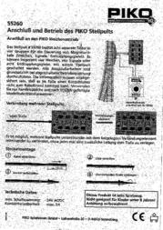 Piko H0 55262 Control Panel 55262 Data Sheet