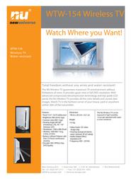 New Universe Wireless TV WTW-154 9WTW1540001 Leaflet