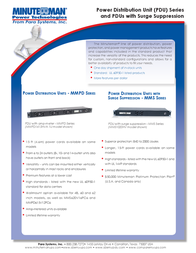 Minute Man MMPD2420V62L User Manual