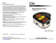 Elite ERO-210BK User Manual