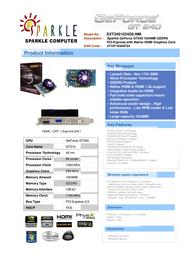Sparkle Technology GeForce GT240 1024MB SXT2401024D5-NM Leaflet