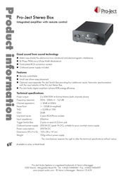 Pro-Ject Stereo Box 3081020010 Leaflet