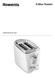 Rowenta 2-Slice Toaster User Manual