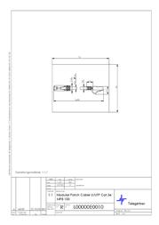 Telegärtner UTP patch cable 7.5m L00004E0003 Leaflet