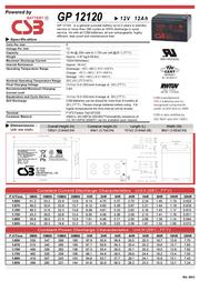 CSB GP12120 F2 GP12120 Leaflet