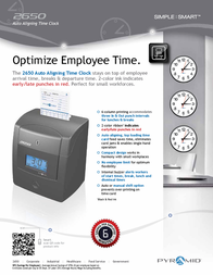 Pyramid Time Systems 2650 Leaflet