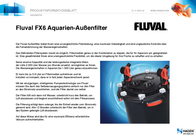 Fluval External aquarium filter A219 A219 Data Sheet