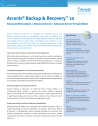 Avanquest Acronis Backup & Recovery 10 Advanced Workstation TIDLBPENS Data Sheet