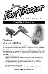 Bounty Hunter Fast Tracker Metal Detector FAST User Manual