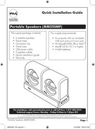 Micro Innovations MM550MF Leaflet