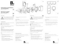 Berker Accessories Gasket set Q.3, Q.1, K.5, K.1 Transparent 10107200 10107200 Data Sheet