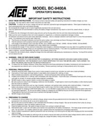 ATEC BC-9400A User Manual