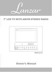 Lanzar Street Vision SV7TV User Manual