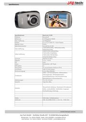 JayTech Action Cam 77007352 77007352 Data Sheet
