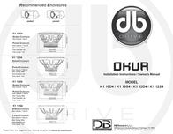 DB Link DB Research Car Speaker K1 12D4 Leaflet