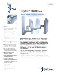 "Ergotron 200 series (2) 9"" Extensions Keyboard/Laptop Pivot Grey 28-177-180 Leaflet"