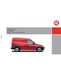 Vauxhall Combo Owner's Manual