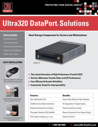 CRU DataPort 6 SCA U320, Carrier Only 8421-2100-0500 Leaflet