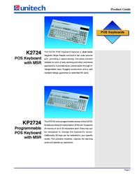 Unitech K2724 K2724CF Leaflet
