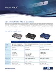 Matrox Veos Master Unit VS-MSTR-0F Leaflet