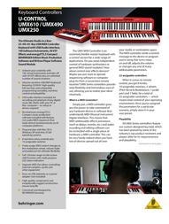 Behringer UMX250 User Manual