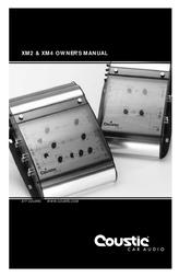 Coustic XM2 & XM4 User Manual