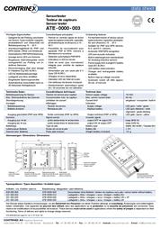 Contrinex 600 000 00X Sensor tester ATE-0000-003 Sensor Tester 600 000 00X Hoja De Datos