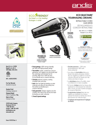 Andis RC-3 81290 Leaflet