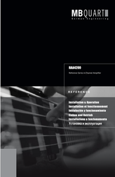 MB Quart REFERENCE SERIES 4-CHANNEL AMPLIFIER RAA4200 Справочник Пользователя