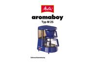 Melitta Aromaboy M25-01 Leaflet