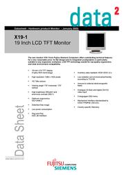 Fujitsu 19IN TFT FSP:840002124 데이터 시트